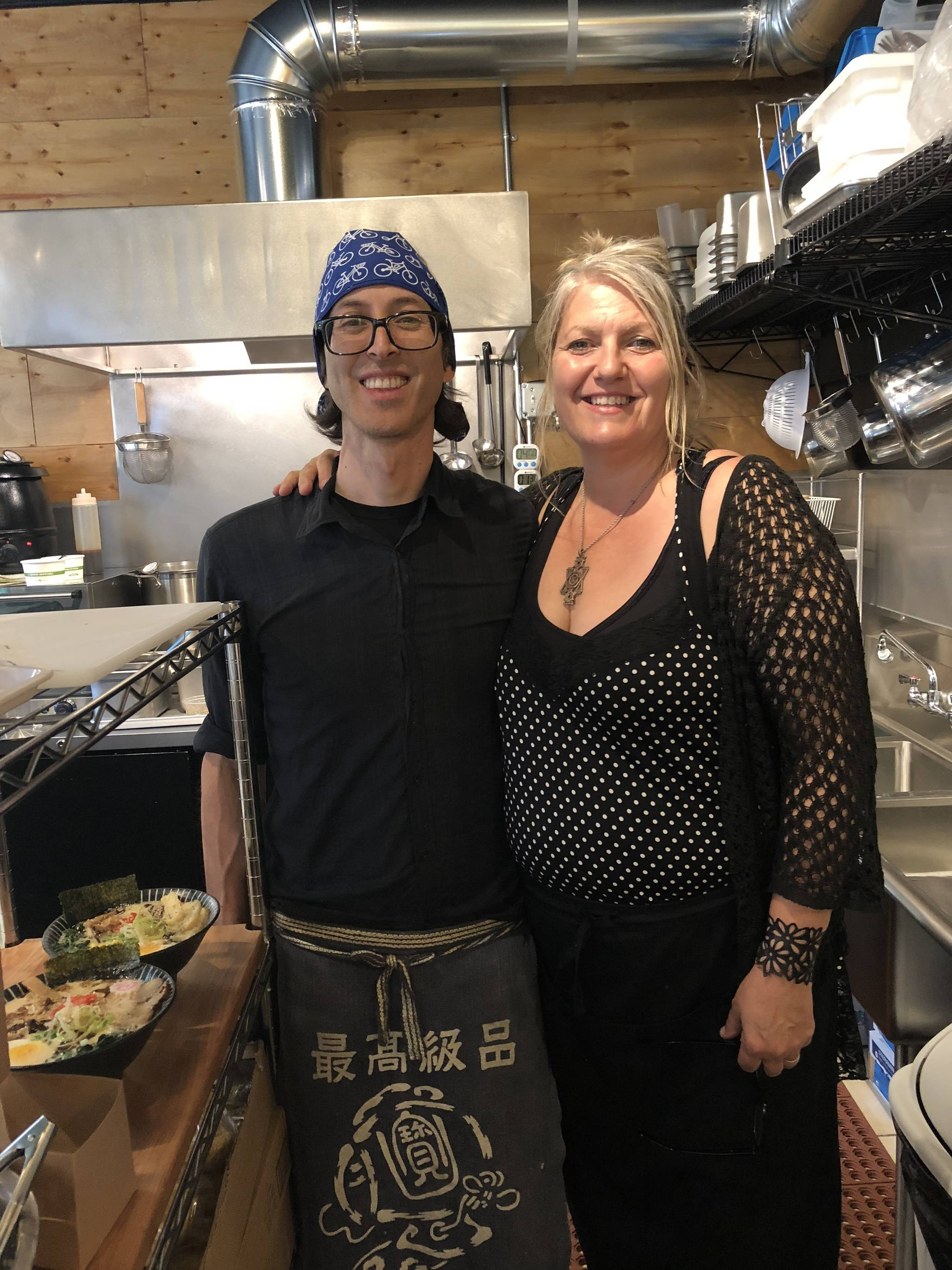 Denis Zimmermann and his wife, Cheryl, run Langley's new ramen restaurant, Ultra House, which opened in May 2018. Photo by Emily Gilbert/Whidbey News-Times.